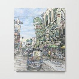 One day in Bangkok Metal Print