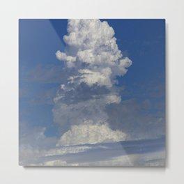 Epic Cloud Event Arising Upward Toward Eternity Metal Print