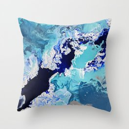 Churning Tides Throw Pillow