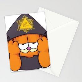 Aleister Crowley x Garfield Parody Stationery Cards