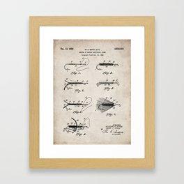 Fly Fishing Patent - Fisherman Art - Antique Gerahmter Kunstdruck