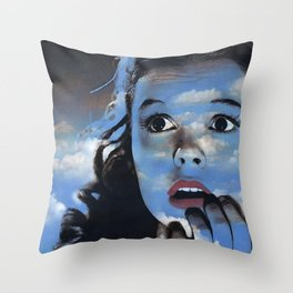 Judy in Clouds II Throw Pillow