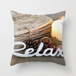 Relax Hygge Wintertime Throw Pillow
