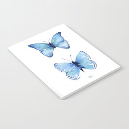 Two Blue Butterflies Watercolor Notebook