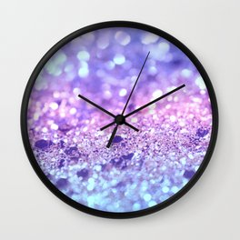 Summer Unicorn Girls Glitter #2 #shiny #pastel #decor #art #society6 Wall Clock