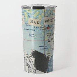 I Say Bad Words - Vintage Collage Travel Mug