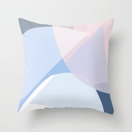 Blue Triangle Throw Pillow
