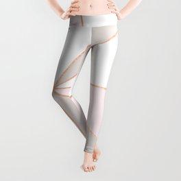 GEO SUNBURST ROSEGOLD PASTEL Leggings