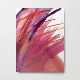 Tigerlily: a vibrant, colorful, watercolor piece in pink, purple, orange, and reds Metal Print
