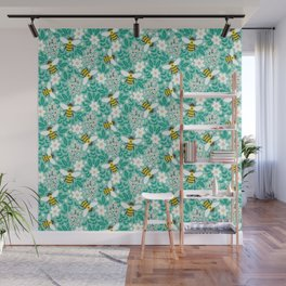 Blooms & Bees Wall Mural