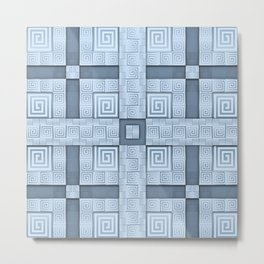 Resolve - A Greek Inspired Seamless Design Metal Print