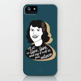 Let Me Live - Sylvia Plath - Teal iPhone Case