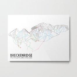 Breckenridge, CO - Minimalist Trail Map Metal Print