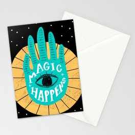 Magic happens Stationery Cards