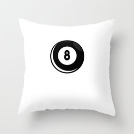 """Nice Billiard Shirt For Players """"I'm Probably Playing About To Play Thinking About Playing"""" T-shirt Throw Pillow"""