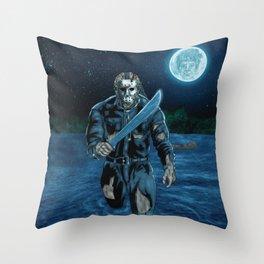 Hockey Masked Killer Throw Pillow