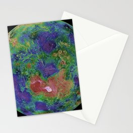 NASA PIA00007: Hemispheric View of Venus Centered at the North Pole (1996) Stationery Cards