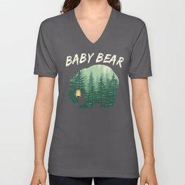 Family Baby Bear Nature Forest Woods Unisex V-Neck