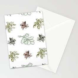 Quercus (greens) Stationery Cards