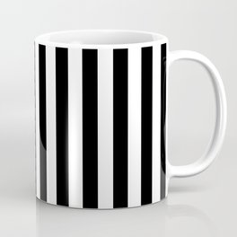 Black and white vertical stripes | Classic cabana Stripe Coffee Mug