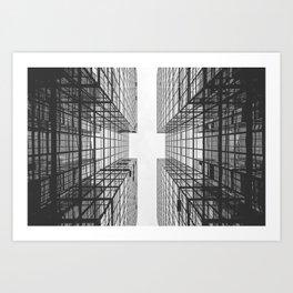 Black and White Skyscraper Art Print