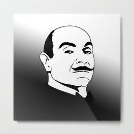 Hercules Poirot. Metal Print