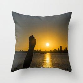 Sunset Cityscape Scene, Montevideo, Uruguay Throw Pillow