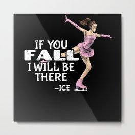 Figure Skating Figure Skater Ice Dancing Ice Skate Metal Print