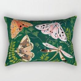 Moths and dragonfly Rectangular Pillow
