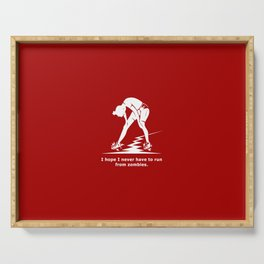 Running from Zombies Serving Tray
