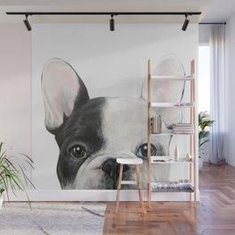 French Bulldog Dog illustration original painting print Wall Mural