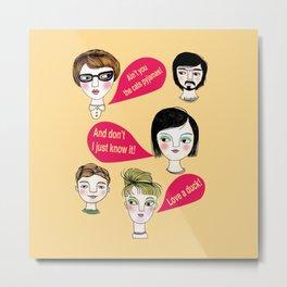 Talking Heads in Yellow Metal Print