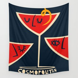 Cosmopolitan Cocktail Wall Tapestry