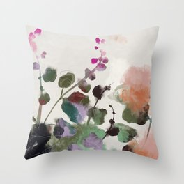 floral abstract summer autumn Throw Pillow