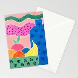 La bouteille et les fruits Stationery Cards
