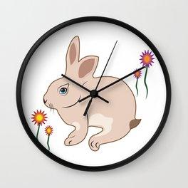 Bunny, Rabbit, DAM Creative,Easter, Wall Clock