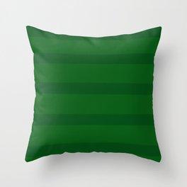 Emerald Green Organic Stripes Throw Pillow