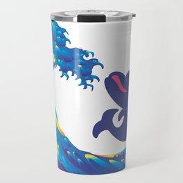 Hokusai Rainbow & Babydolphin Travel Mug