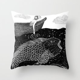 The Shimmering Sea Lights Throw Pillow