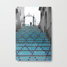Mystery Man on the Blue Stairway to Heaven, Kansas City Metal Print
