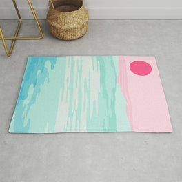 Really - 80s style throwback sunset sunrise west coast socal vibes surfing beach vacation Rug