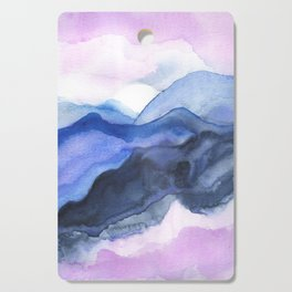 Mountain Abstract Watercolor Cutting Board