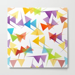 Fractal triangles with unfolding colors Metal Print