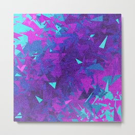 Pink, Purple, and Blue Triangles 2 Metal Print
