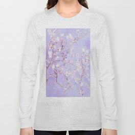 Vincent Van Gogh Almond Blossoms  Lavender Long Sleeve T-shirt