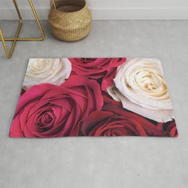 Bordeaux Red and Pink Champagne Roses Rug