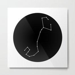 SCORPIO (MINIMALIST DESIGN) Metal Print