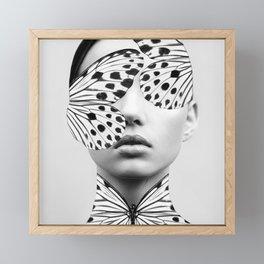 Woman Butterfly Framed Mini Art Print