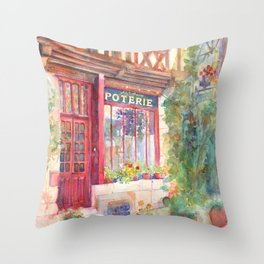 David's Europe 2 - A&C Squire Poterie Throw Pillow