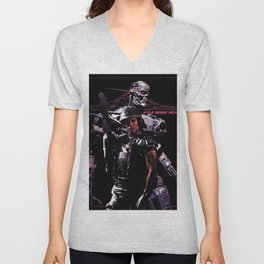 Kyle Reese Revenge Aliens Terminator 80s synthwave Unisex V-Neck